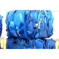 HDPE blue drum scrap, HDPE drum scrap, HDPE blue regrind, HDPE drum bales scrap