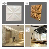 3D Bamboo Fibre Interior brick art Wall Panel decoration Bathroom wall covering panels