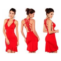 Red Glamorous Ruched Mermaid Evening Dress