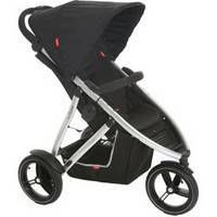 Phil&Teds Vibe Buggy Baby Stroller w/Double Kit Black