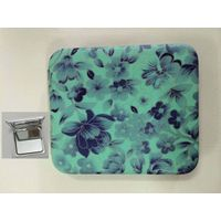 Green PU Flowers Printing Cosmetic Mirror LFM6235