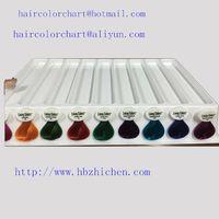 plastic detachable hair color chart