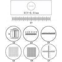 C1-C7 Optical Microscope Calibration Slides Eyepiece Reticle Microscope Micrometer for Eyepiece thumbnail image