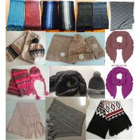 Fashion Winter Lady Man Kids Acrylic Knitted Jacquard (Hat) Loop Scarf Shawls Neckwarmer Set thumbnail image