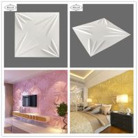 eco-friendly green material decoration waterproof building material bamboo fiber 3d wall panels