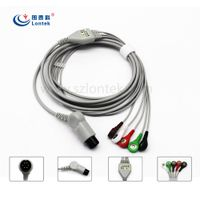 AIR SHIELDS One piece series patient ECG cable IEC5LD, SNAP, TPU Material