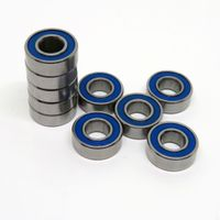Anti Rust Bearing SMR105C 2RS Hybrid Ceramic Blue Rubber Seals Ball Bearing for Fly Reels 10x5x4mm thumbnail image