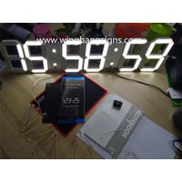 White LED 3D digital Clock 88:88:88