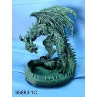 Polyresin dragon figurine / candleholder thumbnail image