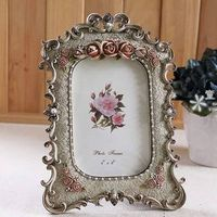 Fashion vintage 6 mount swing sets photo frame classical retro finishing resin frame xk119