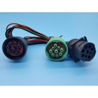 Deutsch Type II Green Connector J1939 Male to Femel Split Y Cable