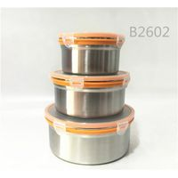 HOME USE Stainless steel 4PCS color food container set lunch box set
