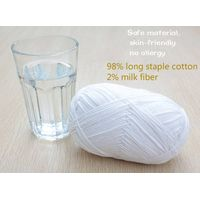 pure color organic cotton knitting yarn for baby wear