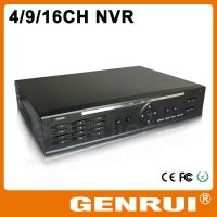 GENRUI ONVIF 8CH 1080P NVR with free CMS,NVR system for ip camera with 3G/Wi-Fi