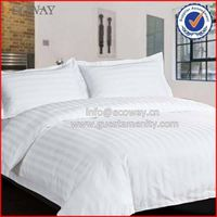 wholesale hotel White strip 100% cotton chinese duvet cover thumbnail image
