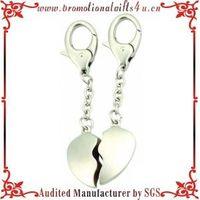 Wedding Gift Heart Shape Lovers Keychain with Custom Made Name