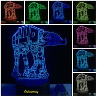 Creative Star Wars ATAT Robort 3D USB LED Lights as Home Bedroom Decorating novelty Gifts for Childr