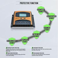 30A 12v 24v pwm solar charge controller for 500-1000w solar home system