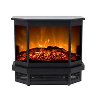NEW design electric freestanding fireplace heater with 3 sides