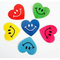 Heart shape sticker non-setting adhesive