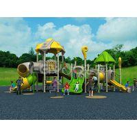 China kindergarten playground equipment plastic slide thumbnail image