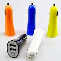 Good Quality Horn Style Dual USB Car Charger 2.1A