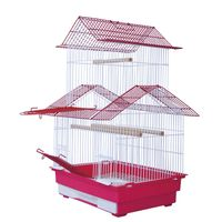 Wire mesh bird cage and house for parrots and birds thumbnail image