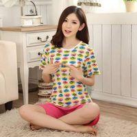 Milk Silk Summer Pajama breathable, top & bottom, knitted, Cartoon