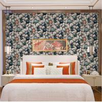Custom Home Decor Waterproof 3D Stone Effect Wallpaper Roll Modern Stone Texture
