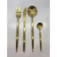 Table fork in 18/0 SS with gold color