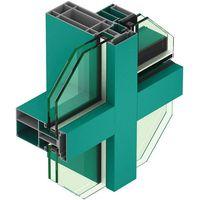 Fully Visible Frame Economical Aluminium Curtain Extrusion