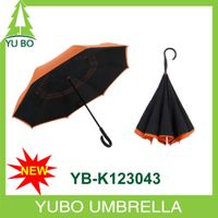 2016 new design auto open reversed umbrella for car