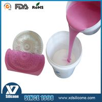 Liquid silicone rubber for gypsum molding