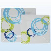 melamine square plate;square melamine plate