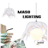 New Pendant Lamp Root Shape Glass Cover Warm White CCT Energy Saving LED Globe Bulb Option MS-P1041