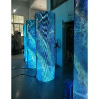 P1.5,P1.8,P2,P2.5 and P3 Indoor Creative Flexible Soft Cylinder LED Screen Module thumbnail image