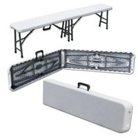 plastic folding bench/6ft 183cm folding in half bench/blowing mold HDPE/out door leisure for picnic  thumbnail image