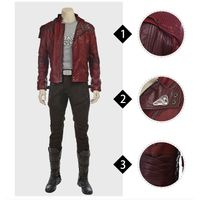 MANLUYUNXIAO Guardians of The Galaxy Peter Quill Star Lord Cosplay Costume For Men Adult Full Set Cu