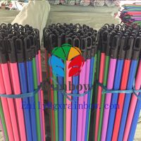 Rainbow factory from guangxi China wood handle broom escoba stick wood handle thumbnail image