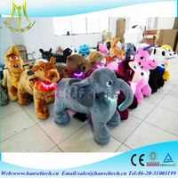 Hansel children funfair indoor playground walking plush motorized animals electric toys to ride