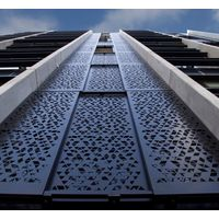 Aluminum Perforated Metal Screen Sheet Used For Hotel Facades