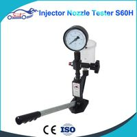 Diesel Injector Nozzle Pop Tester fuel injector nozzle tester with 0 - 400 BAR / 0 - 6000 PSI Dual S