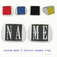 custome made 2 initials letters name ring