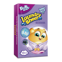 Natural Mild Laundry Sheet Travel Pack 10pcs BUBUBEAR
