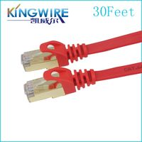 Hot Sale Blue Network Cable Snagless Patch Flat cat5 cat6 UTP STP Cable thumbnail image