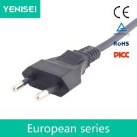 EU European 2 Pin AC Plug Power Cable Lead Cord