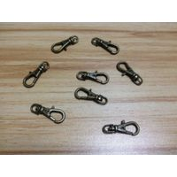 stock supply anti brass coated small snap hook