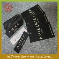 OEM factory fashion clothing customized garment cheap woven label hang tag