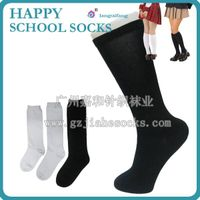 Good quality knee high uniform school socks, cotton student socks