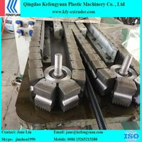 PE/PA/PP single wall corrugated pipe extrusion line with single screw extruder
